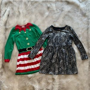 Girls holiday dresses 7-8 M Christmas & Halloween